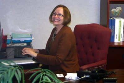 Gail Hollarbush, Carriage Glen's Executive Director greets you with a friendly smile.